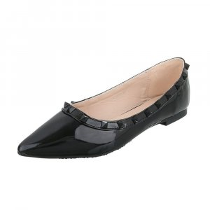 Patent Leather Ballerinas black mixture fibre
