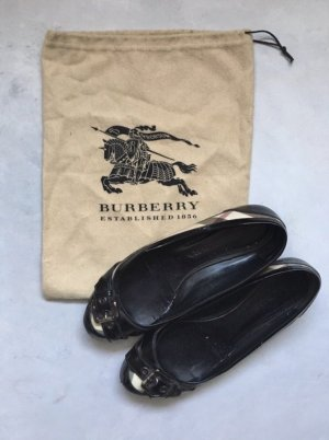 Burberry Patent Leather Ballerinas black