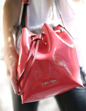 Lack Beutel Handtasche Calvin Klein koralle