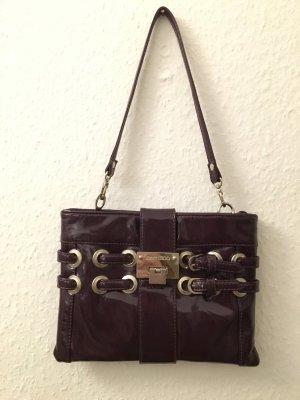 Lack Handtasche in Lila mit Silber Applikationen