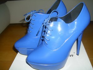 Lack High Hells / Plateau Schuhe in blau Größe 40