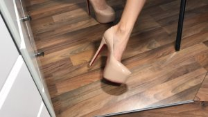 Lack Highheels in Beige