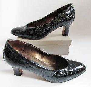 Lack Kroko Pumps Peter Kaiser Größe 6 39 Leder Schwarz Schuhe Abendschuhe Tanzschuhe