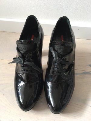 Lack Leder Ankle Stiefeletten von Prada
