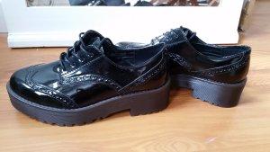 Lack Leder Schuhe Boots Blogger