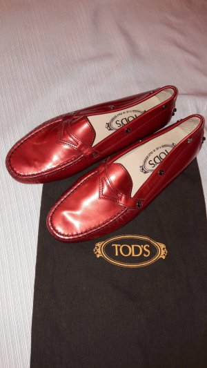 0039 Italy Low Shoes red leather
