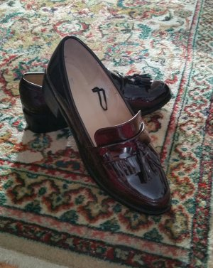 H&M Studio Patent Leather Ballerinas bordeaux