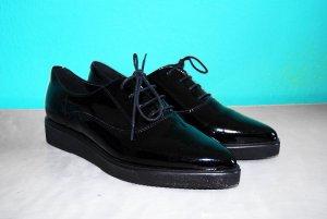 lack loafers flats halbschuhe viola 39 schwarz #Viola