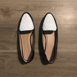 Lack Loafers schwarz weiß