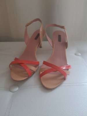 Fornarina Strapped High-Heeled Sandals cream-pink