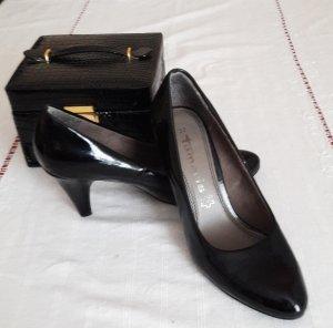 Tamaris Escarpins noir-argenté cuir