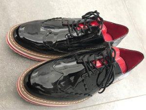 Lack Schuhe schwarz