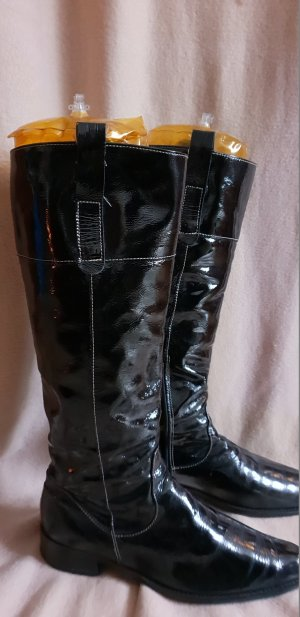 Davos Gomma Biker Boots black leather