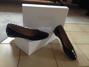 Chloé Patent Leather Ballerinas black leather