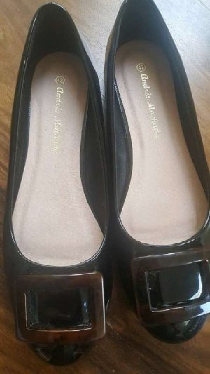Patent Leather Ballerinas black-dark brown