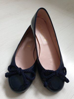 Pretty ballerinas Patent Leather Ballerinas dark blue leather