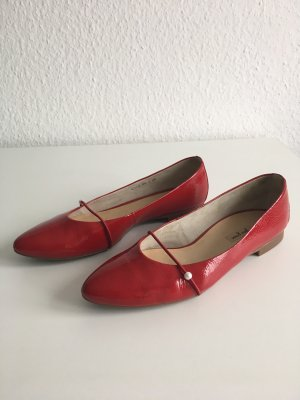 Paul Green Patent Leather Ballerinas red