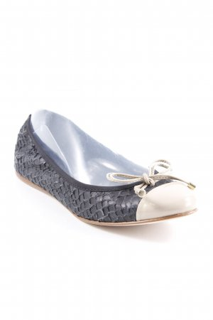 Patent Leather Ballerinas black-beige classic style