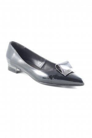 Patent Leather Ballerinas black casual look