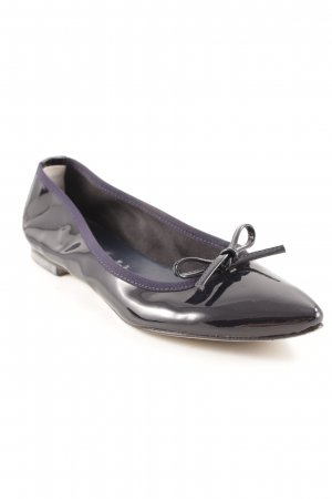 Patent Leather Ballerinas black-dark blue casual look