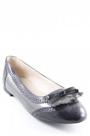 Patent Leather Ballerinas black-dark grey leather-look