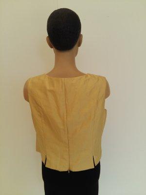 Blazer de esmoquin beige Seda
