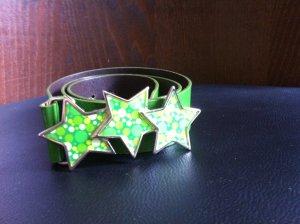 Lackgürtel Grün mit Sternschnalle von Fornarina