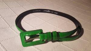Cinturón de cuero verde