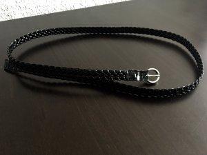 H&M Gevlochten riem zwart Imitatie leer