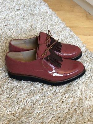 Lace Shoes bright red-bordeaux
