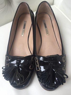 Manas Patent Leather Ballerinas black leather