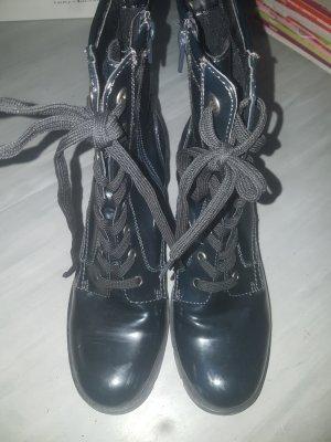 Deichmann Botas con cordones azul oscuro