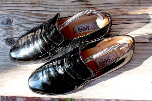 "Lackleder -Loafer's, Gr.38,5, Top! ""Franco Ballin"" Italy"