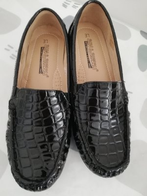 Lackleder Loafers