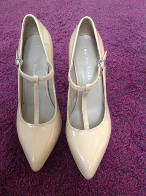 Lackleder Pumps High Heels in Nude, Mai Piu Senza, 39