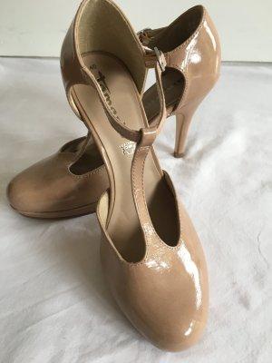 Tamaris Zapatos de tacón con barra en T nude