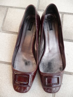 Lackleder Pumps Vintage Slil