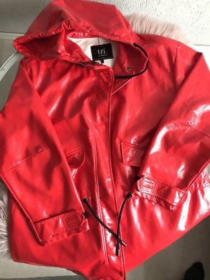Zara Trafaluc Heavy Raincoat red