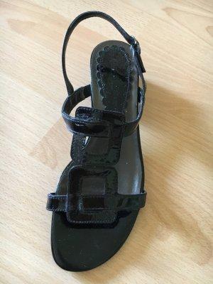 Lackleder Sandalen schwarz