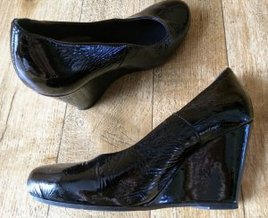 Lackleder Schuhe schwarz