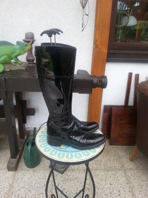 Jackboots black leather
