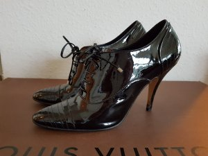 Lackleder- Stiefelette im Oxford -stil lace-up hochfront -pumps