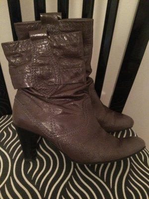 abro Booties grey brown leather