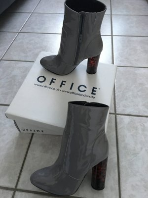 Office Booties grey-russet leather