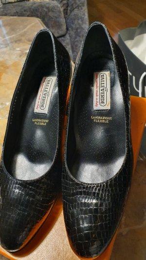 valleverde Loafers zwart Leer