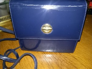 Carry Bag dark blue leather