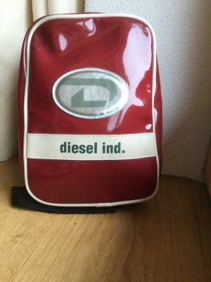 Diesel Industry Crossbody bag dark red-oatmeal synthetic material