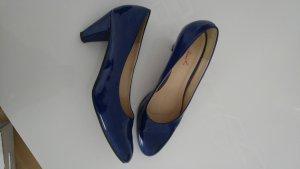 Lackpumps blau Grösse 39