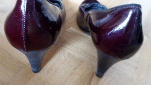 Lackpumps bordeaux Größe 40