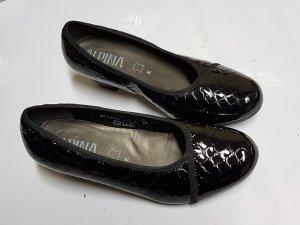 Alpina Pumps met sleehak zwart